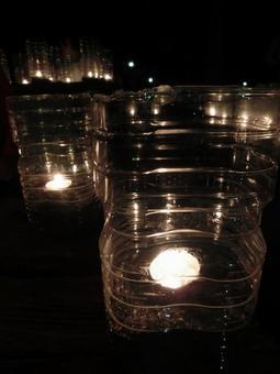 PET bottle candle