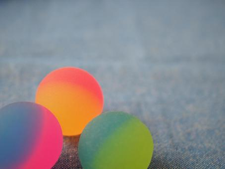 Lined up super balls
