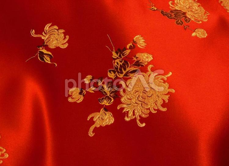 中国風の生地2の写真
