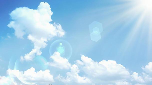 Clouds and blue sky sunshine exhilarating background image