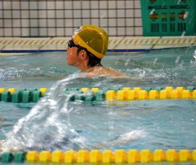 Swimming practice (horizontal)