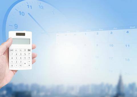 Calculator and schedule image