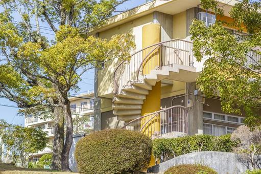 Retro spiral staircase