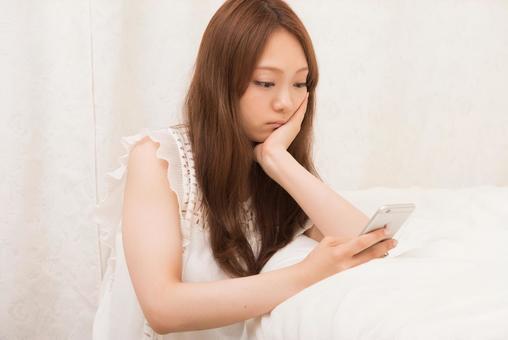 Female using a smartphone 7