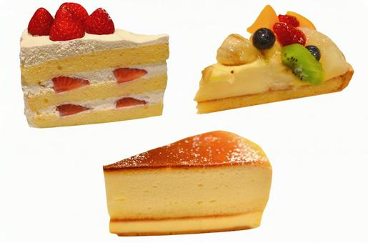 Cut out material cake 3 kinds