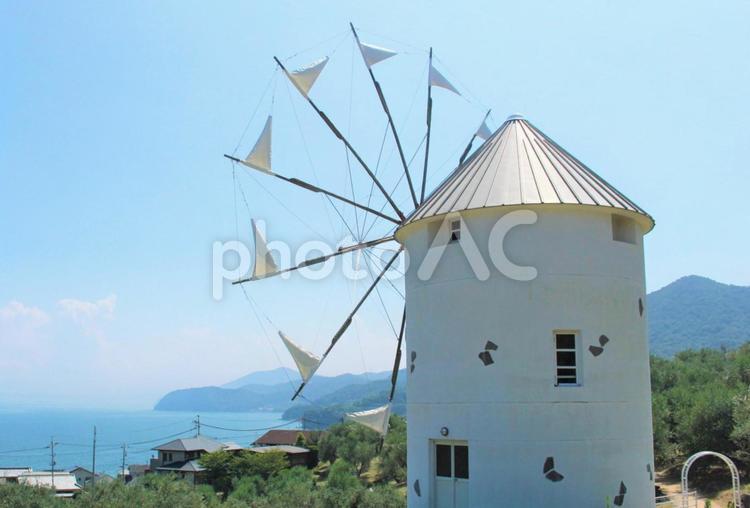 オリーブ公園の風車の写真