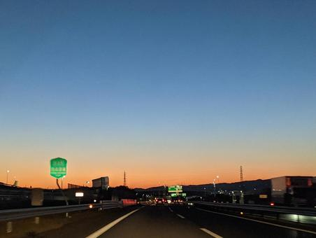 Dusk from the highway