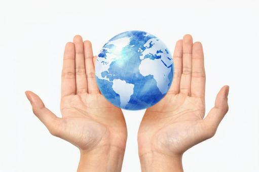 Hand and globe 3
