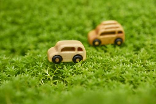 Wooden car eco image