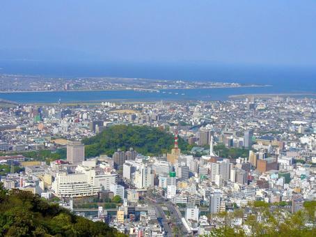 Tokushima city seen from Ulsan