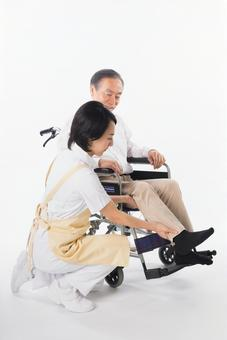 Men with wheelchairs and caregivers 10