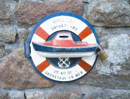 Mont Saint Michel rescue ship sign