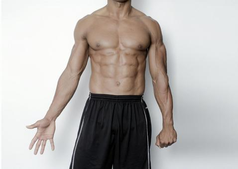 Athlete's abdominal muscle 7