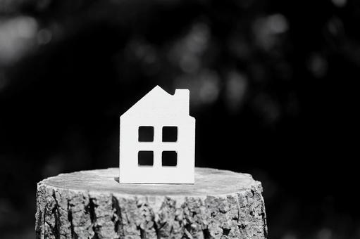 마이 홈 주택 흑백 이미지 소재