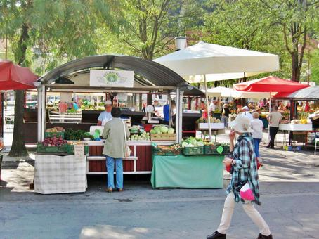 Central fruit and vegetable market in Ljubljana