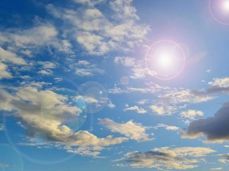 Summer sky desktop image