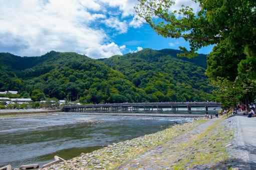 Togetsukyo Bridge and landscape