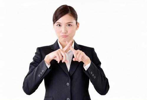 Female in suit suit 22