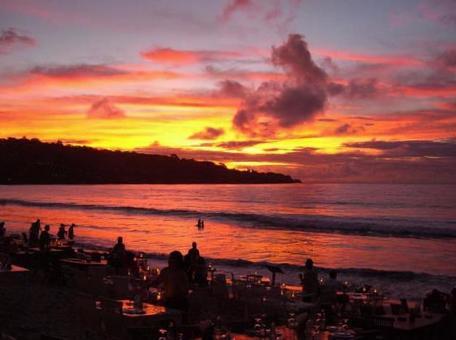 Sunset from Bali Jimbaran Beach 004