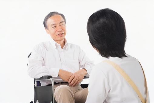 Men and nurses on a wheelchair 38