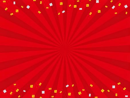 Red radial background (confetti)