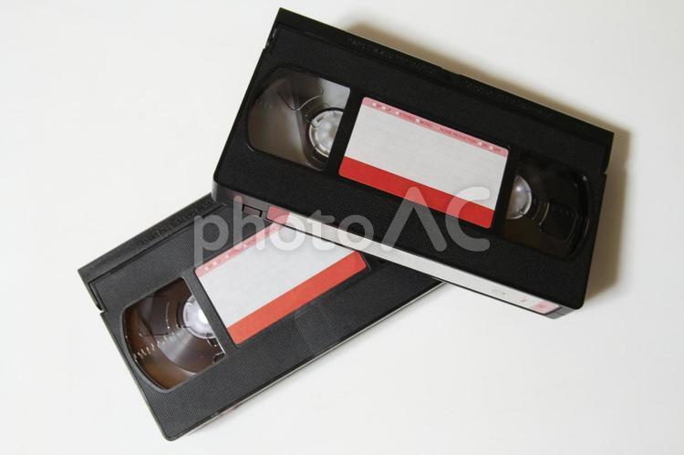 VHSビデオテープ 白背景 02の写真