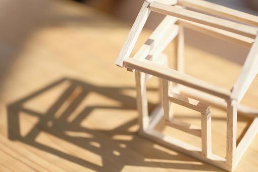 집의 모형 목조 주택 이미지 1