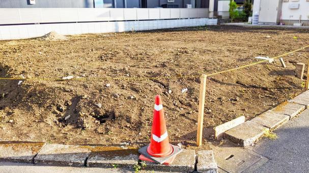 Corner lot before construction