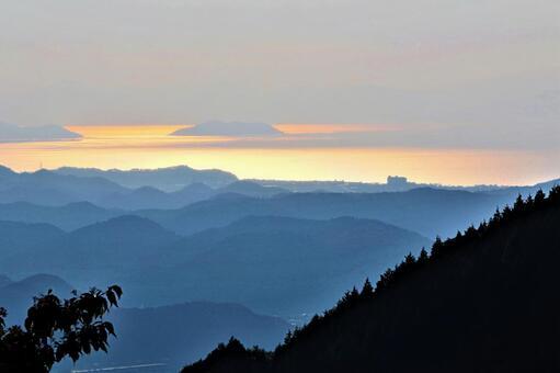 이부키 산에서 바라 보는 비와코
