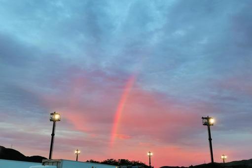 Rainbow evening view