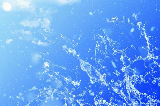 Splashing splashes and blue sky series 12_horizontal position | Free background image