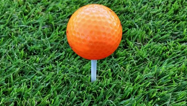 Tee-up color ball