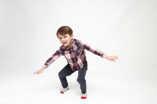 Energetic pose boy 6