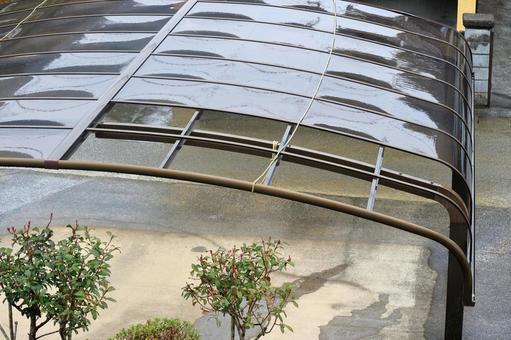 Typhoon Damaged Carport