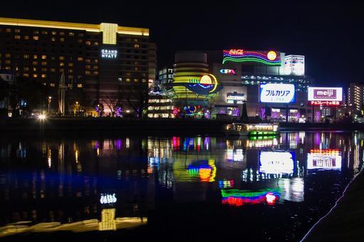 밤의 네온 / 후쿠오카 (캐널)