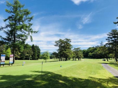 Sunny golf course Karuizawa