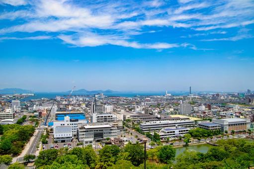 View from Marugame Castle