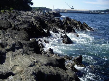 城南島 공원의 바다