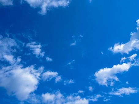 Blue sky and clouds simple background material blue background material