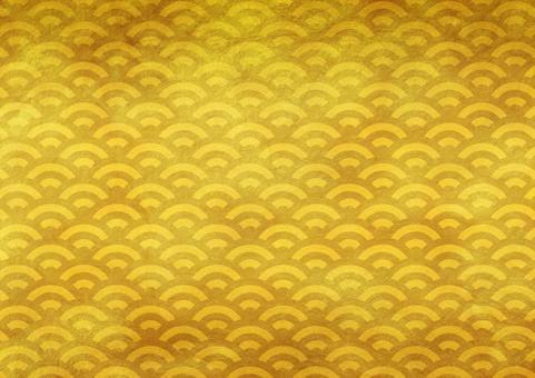 Golden blue ocean wave 1