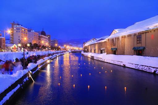 小时的小樽运河