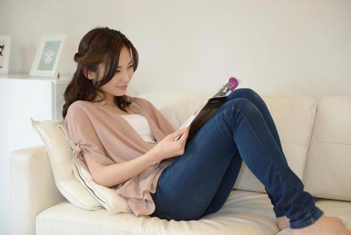 Woman reading 5