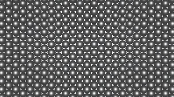 Metal spheres closely packed in a hexagon