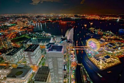 Night view from Yokohama Landmark Tower 3