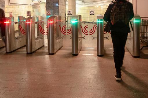 모스크바의 지하철 개찰구