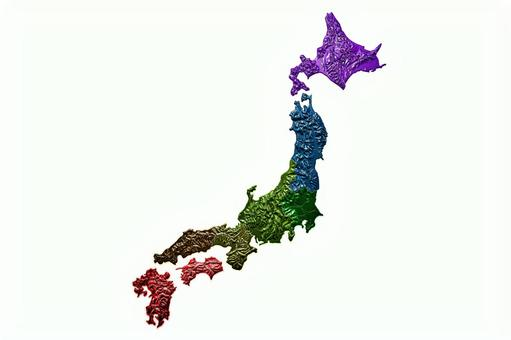 Japanese model (eight regional divisions)