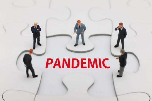 Men discussing PANDEMIC Pandemic