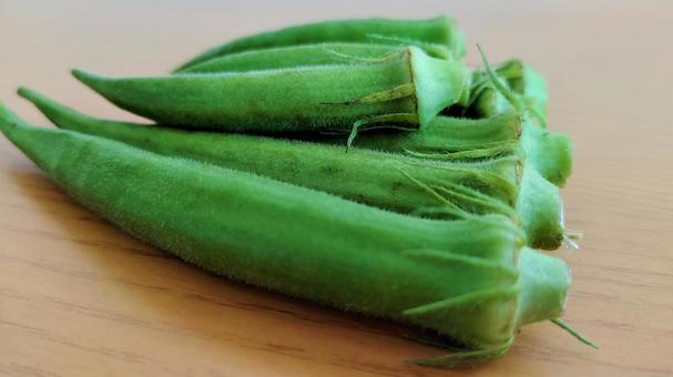 Summer vegetables okra 003