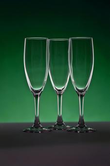 玻璃照片香槟绿色背景