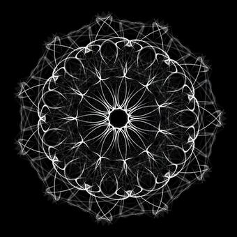 Circle shape art 055 monochrome